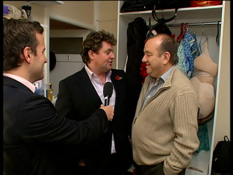 Michael Ball stars in 'Hairspray' musical Reporter to camera Michael Ball and Mel Smith interview SOT