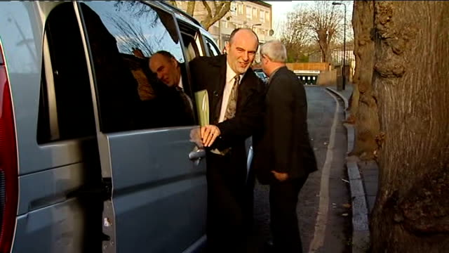 michael barrymore arriving at court; england: london: ealing magistrates' court: ext car arriving / various gvs michael barrymore arriving at court - michael barrymore stock videos & royalty-free footage