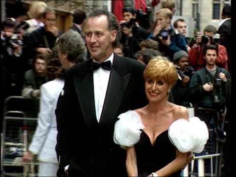 michael barrymore - autobiography postponed/ perjury investigation; london: barrymore and then-wife cheryl at premiere - biografia video stock e b–roll