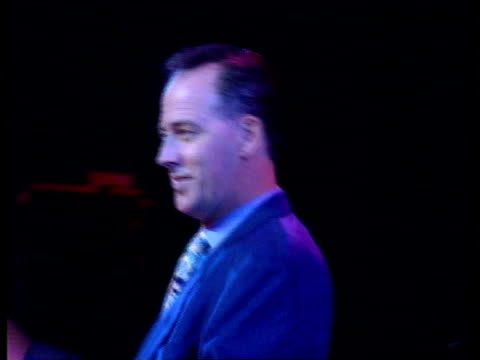 michael barrymore back in action:; **** for rushes see foot of file a)nat: england: blackpool: seq michael barrymore on stage for rehearsals sot cms... - michael barrymore stock videos & royalty-free footage