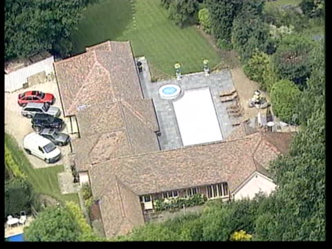 michael barrymore cautioned; lib air view michael barrymore's swimming pool and house harlow michael barrymore out of building along to waiting car - michael barrymore stock videos & royalty-free footage