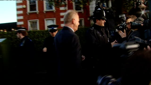 michael barrymore fined after admitting possession of cocaine; england: london: ealing magistrates court: ext michael barrymore arriving at court and... - michael barrymore stock videos & royalty-free footage
