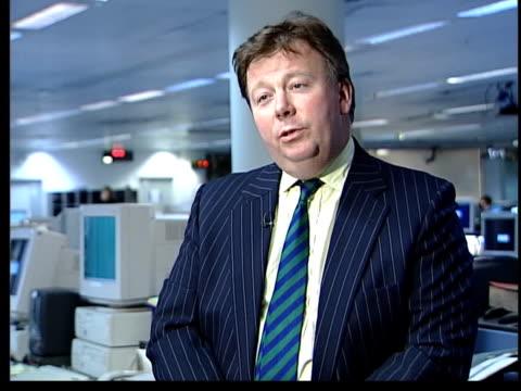michael barrymore recieves police caution; itn london: gir: int duncan lamont interview sot - explains meaning of term 'caution' - michael barrymore stock-videos und b-roll-filmmaterial