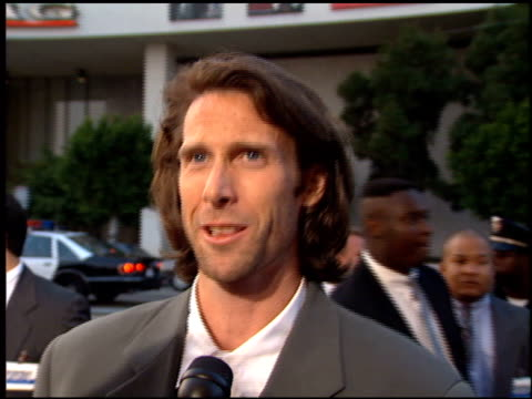 michael bay at the 'bad boys' premiere at the cinerama dome at arclight cinemas in hollywood, california on april 6, 1995. - arclight cinemas hollywood stock videos & royalty-free footage