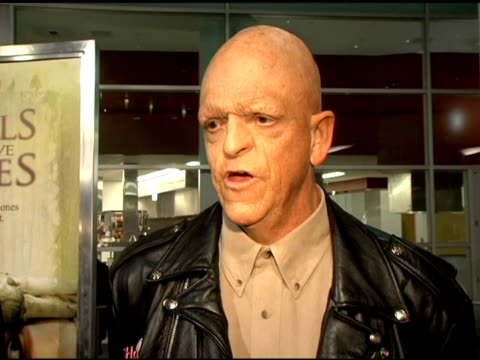 michael berryman on his experience starring in the original and the difference's between the original and the remake and on his new movie... - storyteller stock videos & royalty-free footage