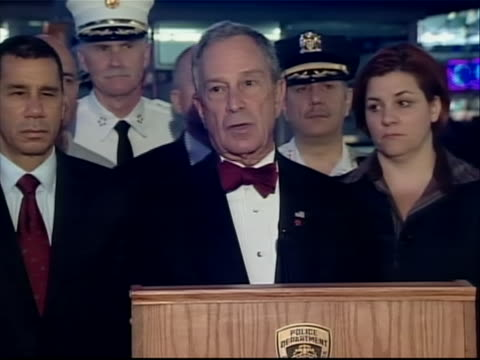 michael bloomberg comments on the times square car bomb plot incident specifically commenting on how the bomb is being handled he states firefighters... - united states and (politics or government) stock videos & royalty-free footage