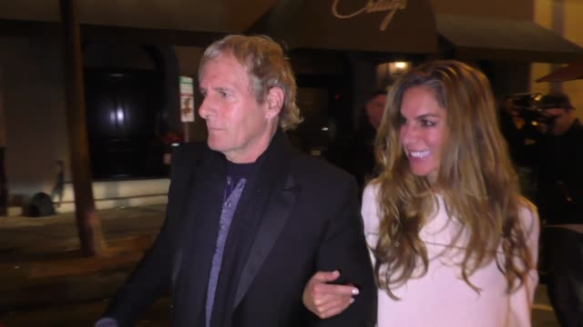 stockvideo's en b-roll-footage met michael bolton celebrates his birthday at craig's restaurant in west hollywood in celebrity sightings in los angeles - west hollywood