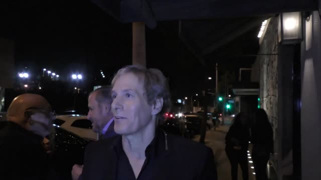 INTERVIEW Michael Bolton David Foster talks about who pics up the dinner tab outside Catch Restaurant in West Hollywood in Celebrity Sightings in Los...