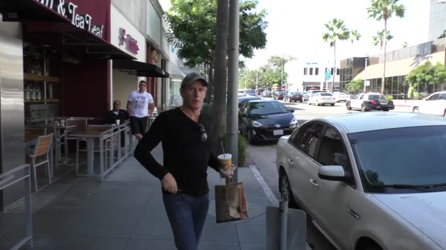 Michael Bolton leaving Coffee Bean in Beverly Hills in Celebrity Sightings in Los Angeles