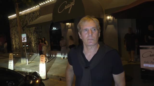INTERVIEW Michael Bolton on the key to golfing in extreme heat outside Craig's in West Hollywood at Celebrity Sightings in Los Angeles on July 07...