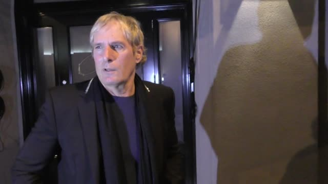 interview michael bolton talks about his upcoming tour outside craig's restaurant in west hollywood in celebrity sightings in los angeles - west hollywood stock videos & royalty-free footage