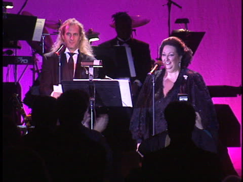 michael bolton with montserrat caballe at the american cinema awards at biltmore hotel - montserrat caballé stock videos & royalty-free footage