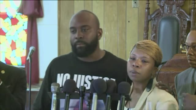 KTVI Michael Brown's Family Speaks at Press Conference on August 11 two days after Brown was shot by police officer Darren Wilson in Ferguson Missouri