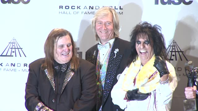 michael bruce neal smith alice cooper rob zombie and dennis dunaway at the 26th annual rock and roll hall of fame induction ceremony press room at... - rob zombie stock videos & royalty-free footage