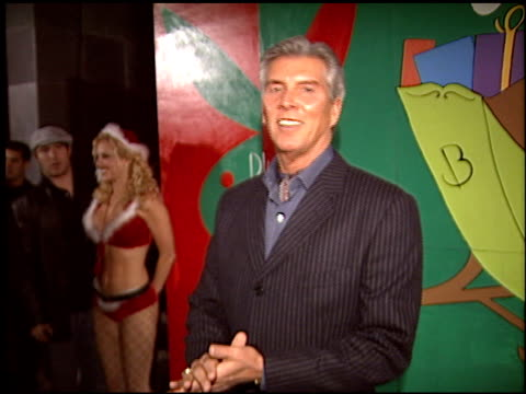michael buffer at the hugh hefner's christmas party at club bliss in los angeles california on december 19 2003 - hugh hefner stock videos & royalty-free footage