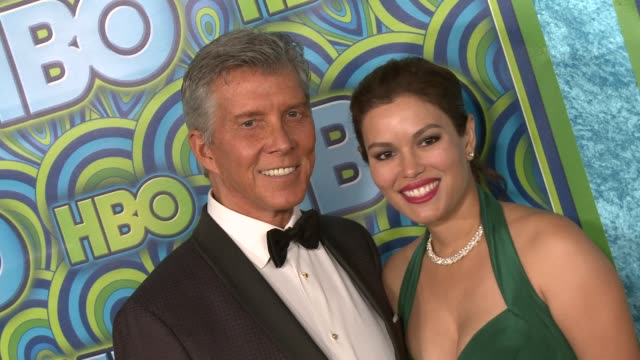 michael buffer christine buffer at hbo's post 65th primetime emmy awards reception on 9/22/2013 in los angeles ca - christine last stock-videos und b-roll-filmmaterial
