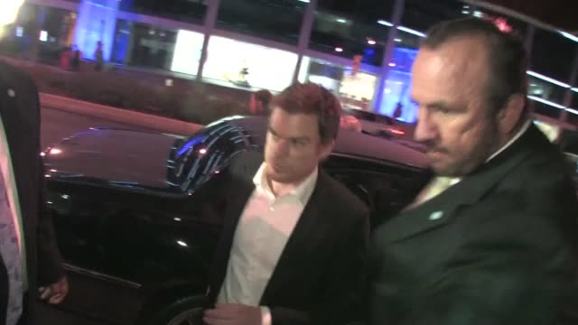 michael c hall arrives at jimmy fallon's emmy after party 2011 at trousdale in west hollywood - jimmy fallon stock videos and b-roll footage