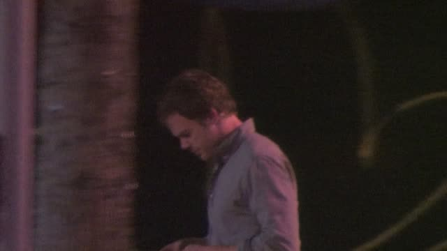 michael c hall arrives at the dime in west hollywood - dime stock videos and b-roll footage