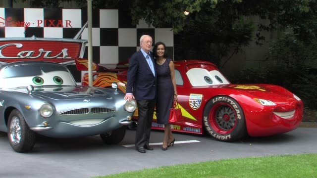 michael caine and shakira caine at the cars 2 uk premiere at london england - shakira caine stock videos and b-roll footage