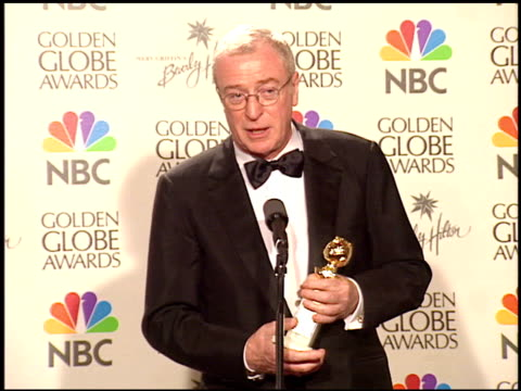 michael caine at the 1999 golden globe awards at the beverly hilton in beverly hills, california on january 24, 1999. - golden globe awards stock-videos und b-roll-filmmaterial