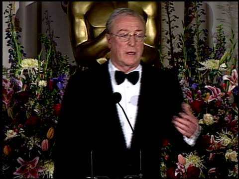 michael caine at the 2000 academy awards at the shrine auditorium in los angeles california on march 26 2000 - 72nd annual academy awards stock videos & royalty-free footage