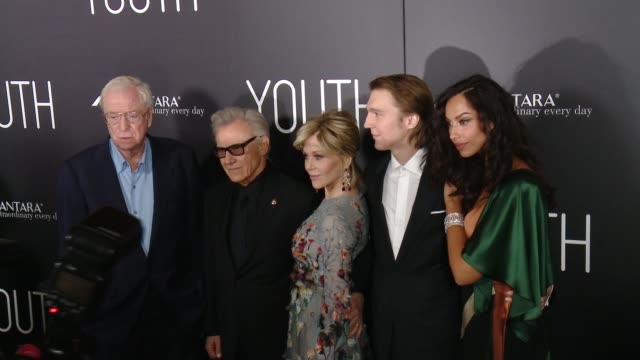 "Michael Caine Harvey Keitel Jane Fonda Paul Dano Mădălina Diana Ghenea at ""Youth"" Los Angeles Premiere Presented by Fox Searchlight in Los Angeles CA"