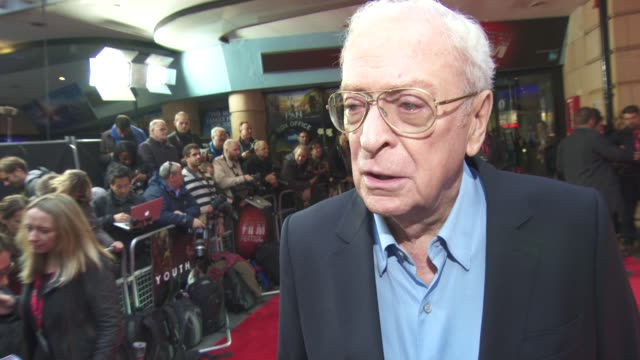 michael caine on his friendship with harvey keitel and his career at 'youth' gala bfi london film festival at vue leicester square on october 15,... - leicester square stock videos & royalty-free footage