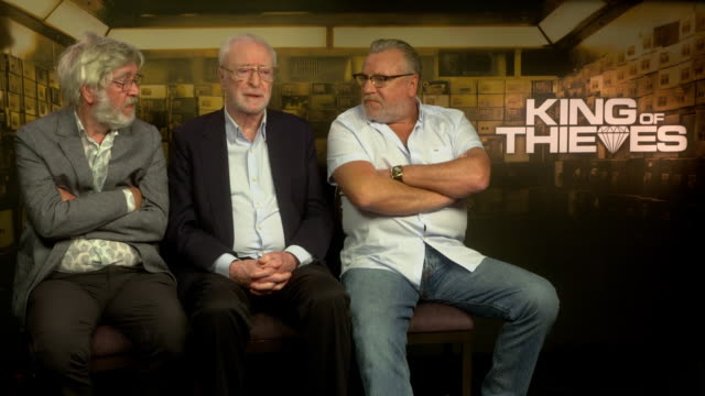 interview michael caine on tom hanks being inspired to get into acting because of him who does the best impressions of him at 'king of thieves'... - tom courtenay stock videos & royalty-free footage