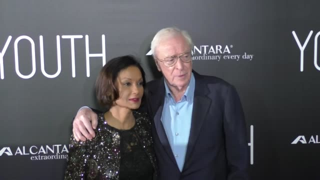 michael caine shakira caine at the premiere of fox searchlight pictures' youth at dga theatre in west hollywood on november 17 2015 in los angeles... - shakira caine stock videos and b-roll footage