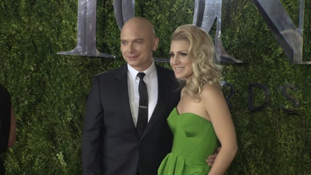 michael cerveris and annaleigh ashford at 2015 tony awards arrivals at radio city music hall on june 07 2015 in new york city - michael cerveris stock videos and b-roll footage