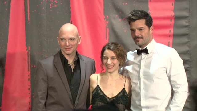 michael cerveris elena roger and ricky martin at evita broadway revival curtain call and press conference on in new york - michael cerveris stock videos and b-roll footage
