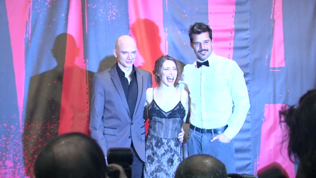 michael cerveris, elena roger and ricky martin at evita broadway revival curtain call and press conference on in new york - revival stock videos & royalty-free footage