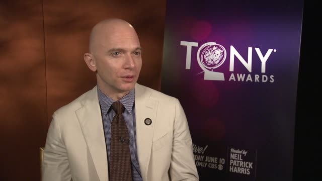 michael cerveris on the excitement of the audience in evita at the tony's on at 2012 tony awards meet the nominees press reception at the millenium... - michael cerveris stock videos and b-roll footage
