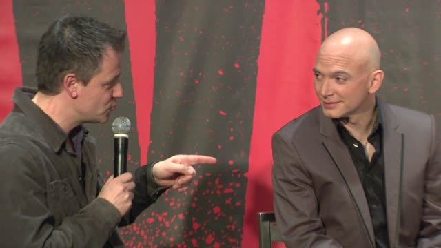 michael cerveris on working on evita at evita broadway revival curtain call and press conference on in new york - michael cerveris stock videos and b-roll footage