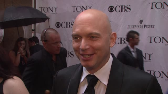 Michael Ceveris on what a Tony nomination means on being excited to be out tonight and enjoy the performances On Hollywood stars taking to the stage...