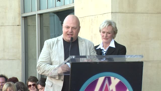 michael chiklis and glenn close at the glenn close receives a star on the hollywood walk of fame at los angeles ca. - michael chiklis stock videos & royalty-free footage