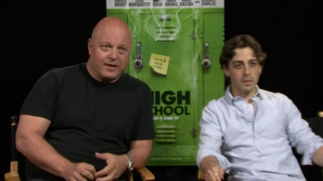 michael chiklis and matt bush on this film showing the paranoia side of getting stoned. - michael chiklis stock videos & royalty-free footage