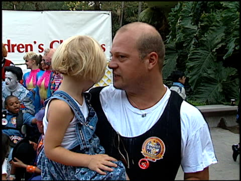 michael chiklis at the barnum and bailey circus celebrity event at los angeles sports arena in los angeles, california on july 26, 1996. - michael chiklis stock videos & royalty-free footage