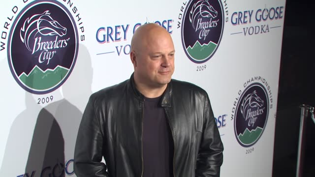 michael chiklis at the breeders' cup winners circle sponsored by grey goose vodka at los angeles ca - grey goose vodka stock videos & royalty-free footage