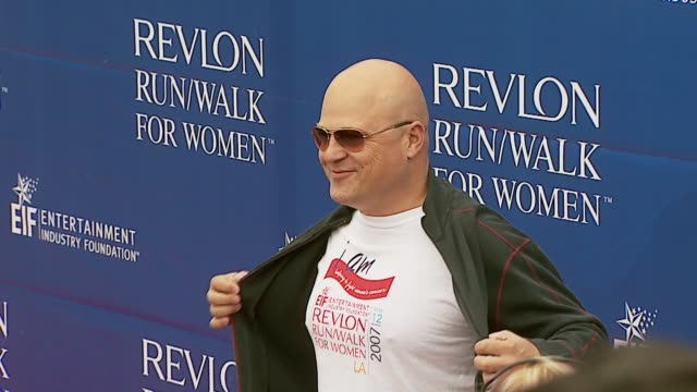 michael chiklis at the revlon run/walk for women celebration of 14 years in los angeles at the los angeles memorial coliseum in los angeles,... - michael chiklis stock videos & royalty-free footage