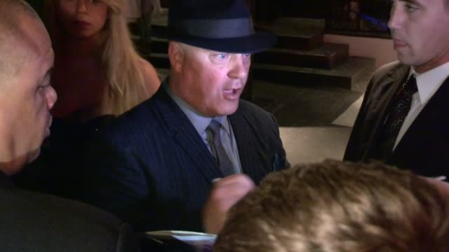 michael chiklis greets fans while departing the cbs 2012 fall premiere party in west hollywood, 09/18/12 - michael chiklis stock videos & royalty-free footage