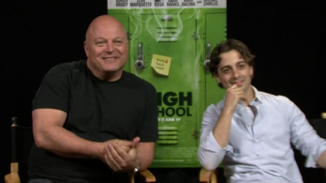 michael chiklis on his character in the film at the 'high school' los angeles press junket interview: michael chiklis on his character in the on may... - michael chiklis stock videos & royalty-free footage