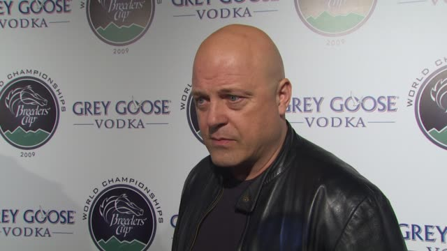 michael chiklis on performing with the band from tv his musical background if he's a fan of horse racing what he's most looking forward to at the... - grey goose vodka stock videos & royalty-free footage