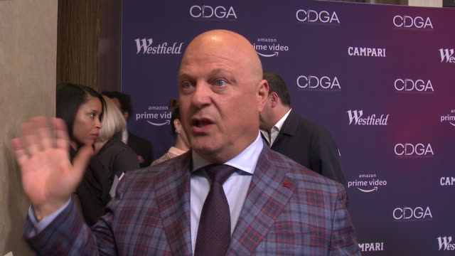 michael chiklis on what brings him out, how important costume design is for him to get into character, why glenn close is so deserving of tonight's... - michael chiklis stock videos & royalty-free footage
