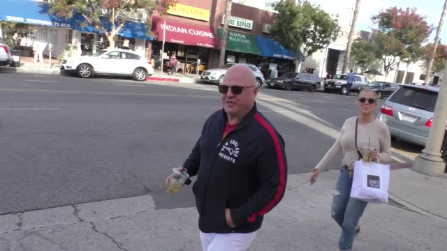 michael chiklis talks about what makes a perfect villain after he grabs lunch at joan's on third in studio city on november 27, 2018 at celebrity... - michael chiklis stock videos & royalty-free footage