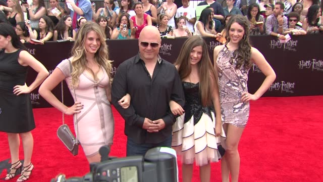 michael chiklis with autumn chiklis and odessa chiklis at the 'harry potter and the deathly hallows: part 2' new york premiere - arrivals at new york... - michael chiklis stock videos & royalty-free footage