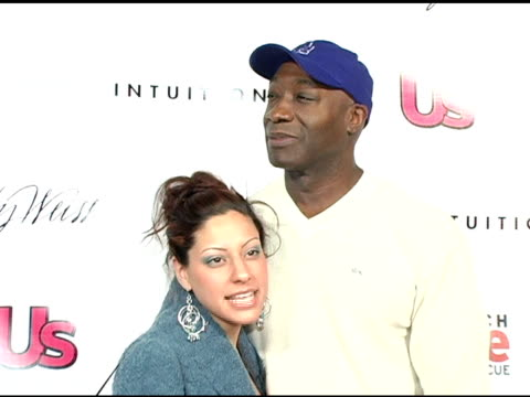 michael clarke duncan and irene marguez at the 1st annual us weekly hollywood holiday shopping party at smashbox studios in culver city, california... - michael clarke duncan stock videos & royalty-free footage