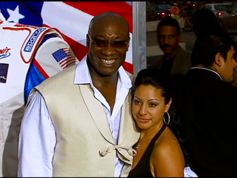 michael clarke duncan and irene marquez at the 'talladega nights: the ballad of ricky bobby' los angeles premiere at grauman's chinese theatre in... - michael clarke duncan stock videos & royalty-free footage