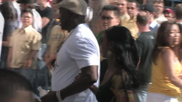 michael clarke duncan omarosa manigault stallworth at the staples center in los angeles at the celebrity sightings in los angeles at los angeles ca - omarosa manigault newman stock videos & royalty-free footage