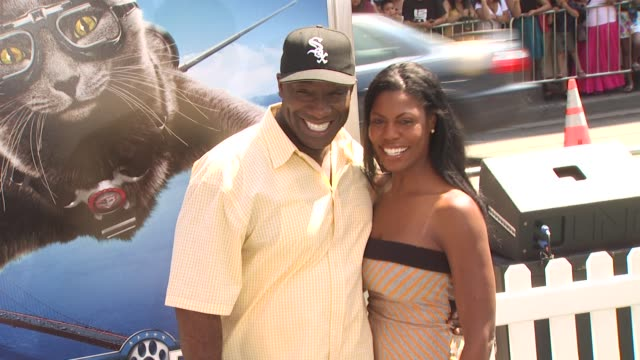 michael clarke duncan omarosa manigaultstallworth at the 'cats dogs the revenge of kitty galore' premiere at hollywood ca - omarosa manigault newman stock videos & royalty-free footage